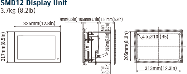 Diagram of SMD12 Display Unit